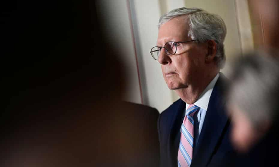 Mitch McConnell on Capitol Hill on 25 May.