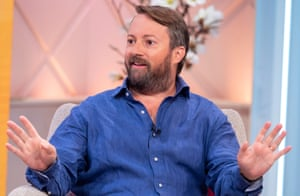 Actor/entertainer David Mitchell on the Lorraine TV show, September 2018