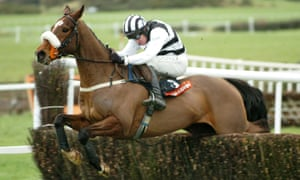 Moscow Flyer and jockey Barry Geraghty pictured winning at Punchestown in 2005.