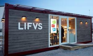 An unstaffed Lifvs supermarket in Sweden.