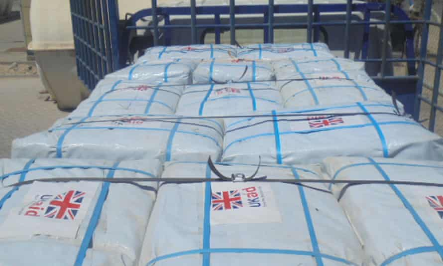 UK aid supplies en route to Mozambique in 2019