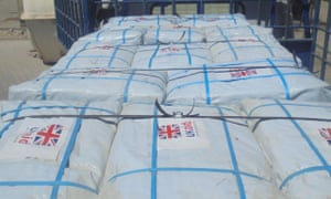 UK aid supplies on their way to the victims of Cyclone Idai in Mozambique