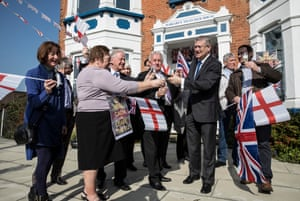 Andrew Rosindell MP for Romford holds a celebration for triggering article 50 tomorrow with local conservative party workers