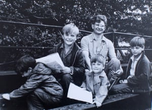Richard, far right, and his brother Nicky, far left, with their father and two other brothers