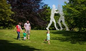Jonathan Borofsky's Molecule Man 1+1+1 at the Yorkshire Sculpture Park