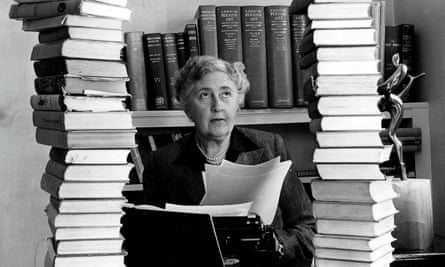Agatha Christie, pictured at her home, Winter-Brook House.