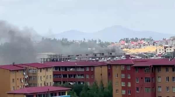 Smoke rises over Addis Abab