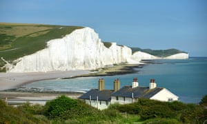 The Seven Sisters chalk cliffs in East Sussex.