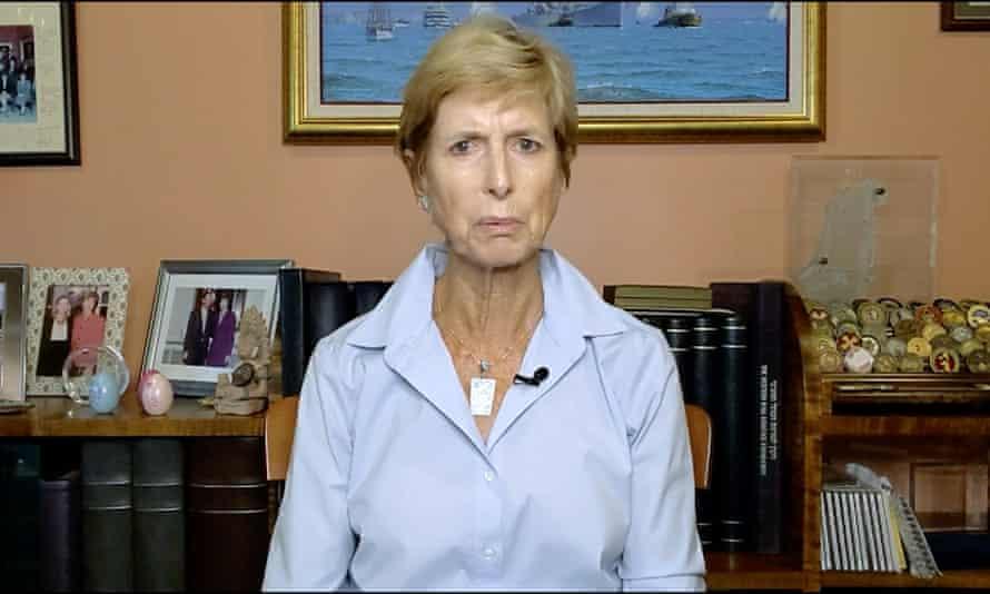 Christine Todd Whitman, the Republican former governor of New Jersey, endorses Joe Biden at the Democratic convention via video.