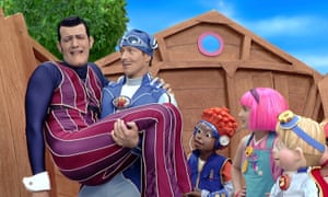 Sportacus saves the day in LazyTown by defeating Robbie Rotten