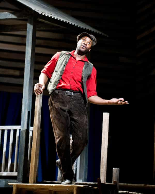 Eric Greene as Billy Bigelow in Carousel by Opera North at Leeds Grand in 2012.