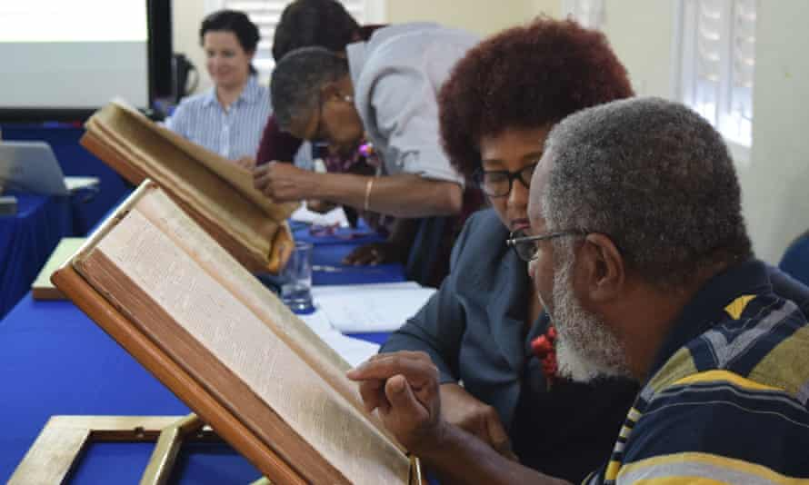 A community workshop with the Barbados newspapers.