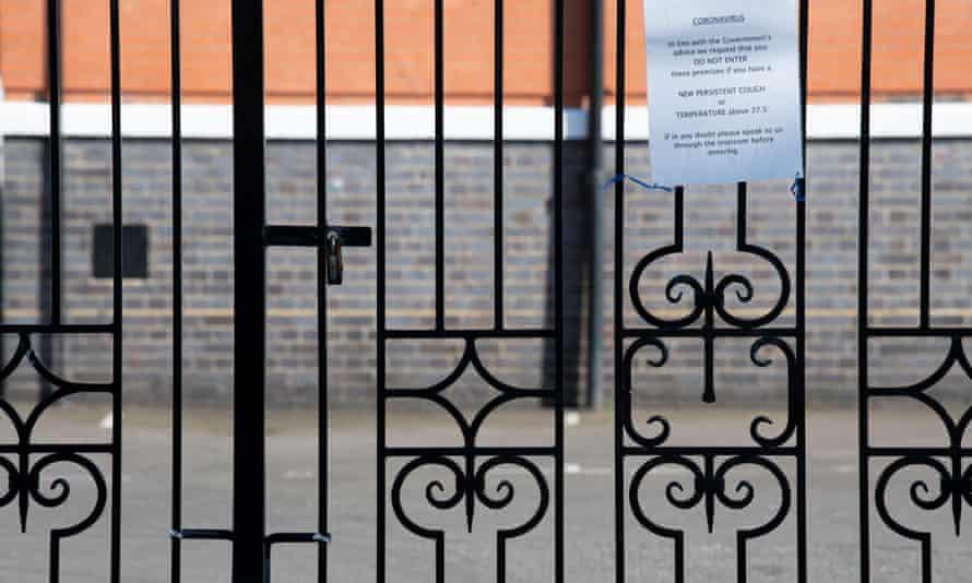 padlocked school gates