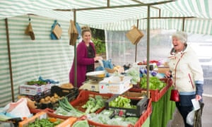 Sarah Hammond, who works at Priestley Farm veg stall.