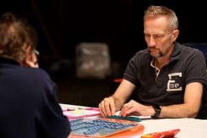 Andrew Fisher plays against John Holgate.