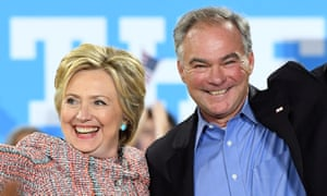 Tim Kaine joins Hillary Clinton on the campaign trail.