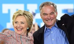 Hillary Clinton Tim Kaine