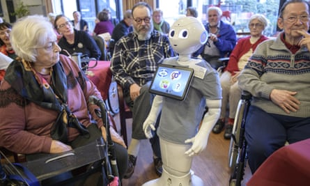 Pepper robots on test in a Frankfurt care home in 2018.
