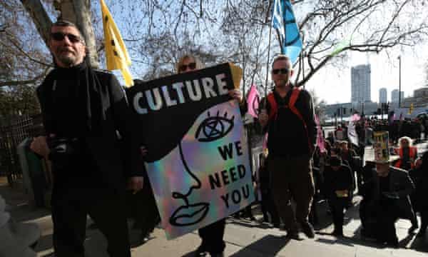 Extinction Rebellion at London fashion week.