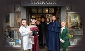 York Gin shop staff are also staging Scrooge the Musical.