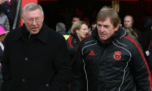 Sir Alex Ferguson, left, and Kenny Dalglish before an FA Cup tie between Manchester United and Liverpool at Old Trafford in January 2011