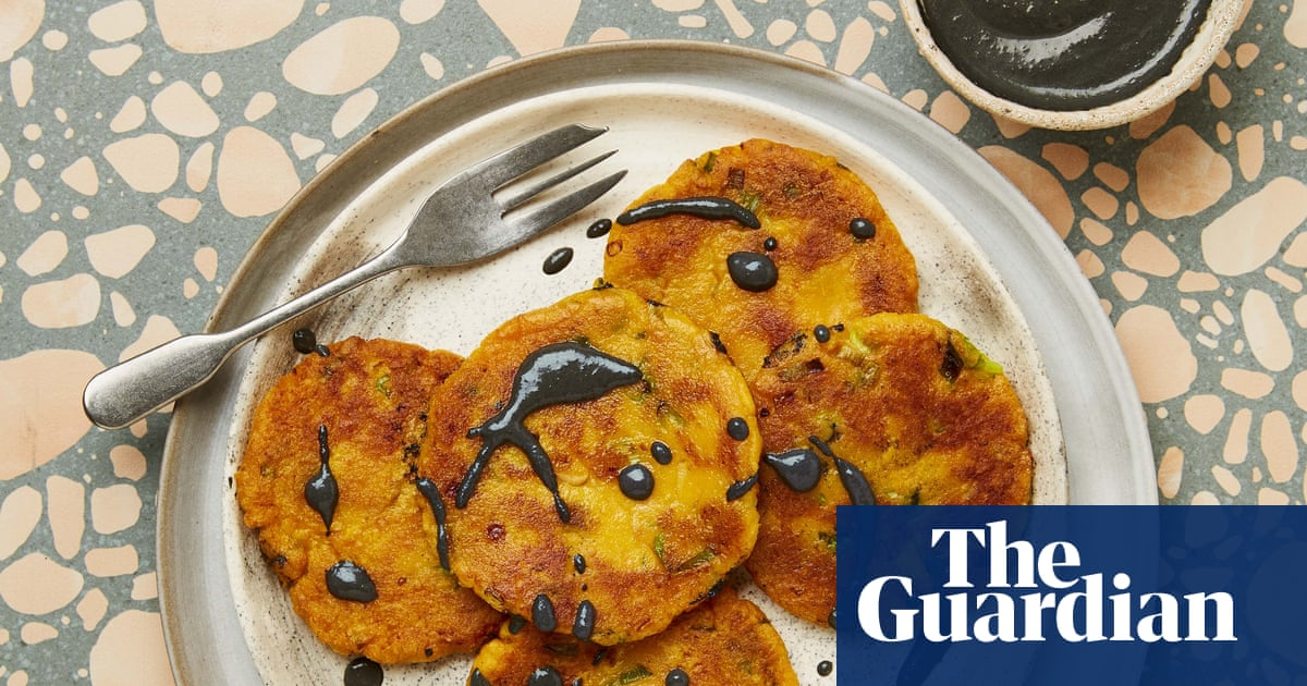 Meera Sodha's vegan recipe for sweet potato mochi with black sesame sauce