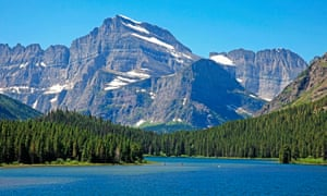 View of Mount Gould from Swiftcurrent Lake in the Many Glacier area of Glacier National Park