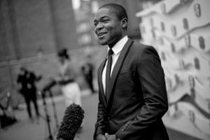 David Oyelowo being interviewed outside the Albert Hall