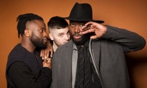 Hip-hop trio Young Fathers: from left, Kayus Bankole, Graham Hastings and Alloysious Massaquo, in London for an interview in the New Review.