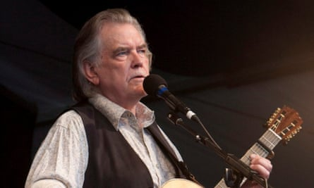 Guy Clark performing on the Fais Do-Do stage on the last day of the New Orleans Jazz and Heritage Festival in 2009.