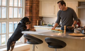 Controversy … Max the Rottweiler with Will Arnett in Show Dogs.