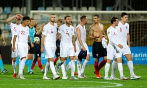 The England and Croatia players walk off after a fairly uneventful Nations League draw in Rijeka.