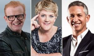 Chris Evans, Clare Balding, Gary Lineker