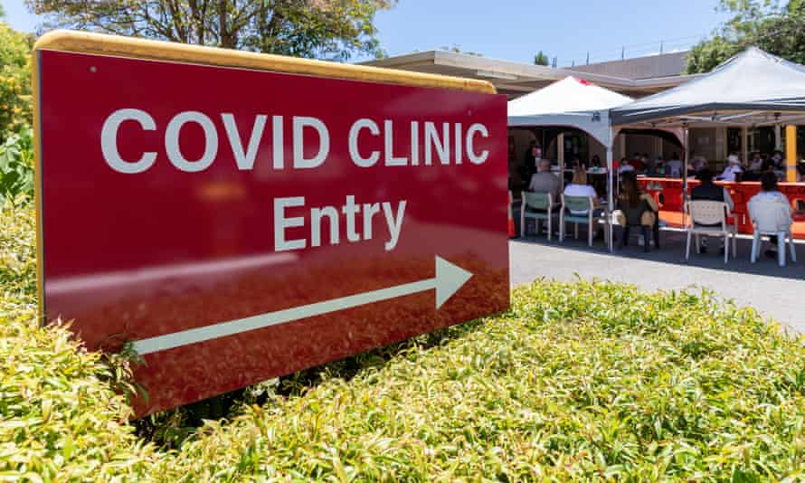 A Covid-19 testing centre at Sir Charles Gairdner Hospital in Perth