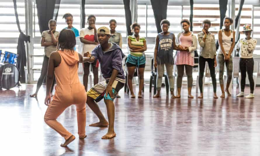 Dane Hurst and the Rambert dance floor he moved to South Africa.