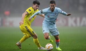 Eden Hazard played an hour against Bate Borisov on Thursday.