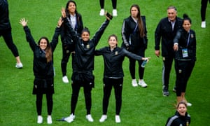 Argentina's players rock up in Le Havre.