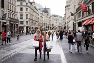 London, UK. A stroll down the busy shopping throughfare of Regent Street, which was closed to traffic