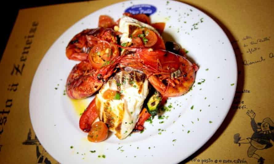 Seafood at Osteria di Vico Palla