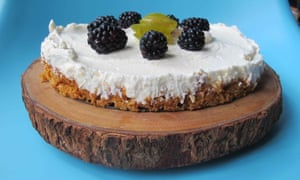 Keep it cool … Felicity Cloake's no-bake cheesecake.