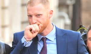 Ben Stokes leaves Bristol crown court on Tuesday.