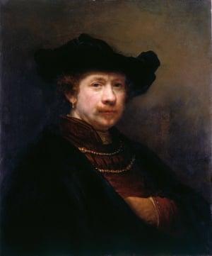 Self-Portrait, 1642, by Rembrandt.