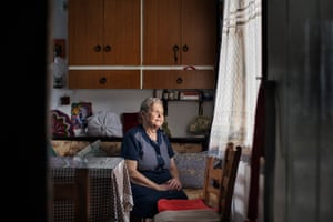 Mavrapidou, photographed in her home in Skala Sykamineas, was one of those who helped by bringing food, preparing sandwiches, keeping refugees company in the camps and looking after children.