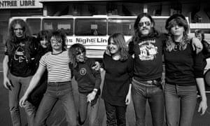 'I blame Lemmy for everything' … the two bands in 1981. (l-r) Eddie Clarke, McAuliffe, Phil Taylor, Dufort, Wiliams, Lemmy and Johnson.