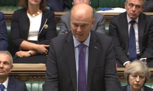 Transport secretary Chris Grayling makes a statement on airport expansion in the House of Commons,
