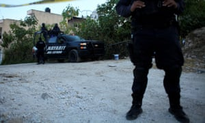 Police in Nayarit state. The state was seen as a success story in reducing the drug violence plaguing other regions.