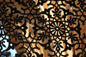 One of the decorative screens in the Mill Road building.