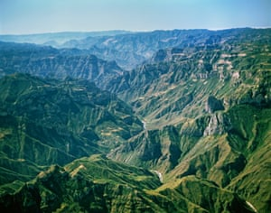 Copper Canyon, Sierra Madre, MexicoUrique Canyon, part of the Copper Canyon system in the Sierra Madre Occidental, is the deepest canyon in North America, descending 1,870 metres from its highest point. The dimensions of Copper Canyon, or Barrancas del Cobre, are comparable to those of the Grand Canyon in Arizona, US.