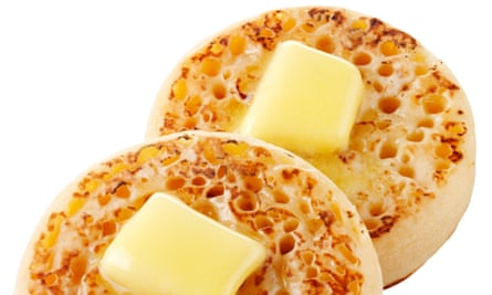Crumpets: salty