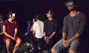 Visitors experience Björk Digital at Somerset House